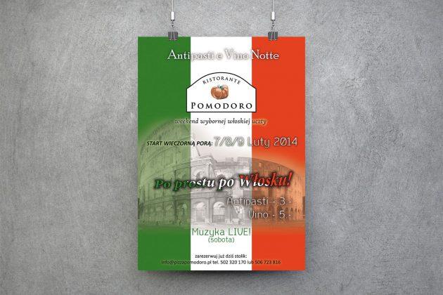 Ristorante Pomodoro Plakat akcji promocyjnej Ristorante Pomodoro w Gdańsku