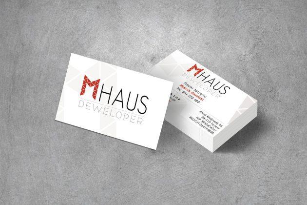 MHAUS Deweloper Wizytówki firmowe