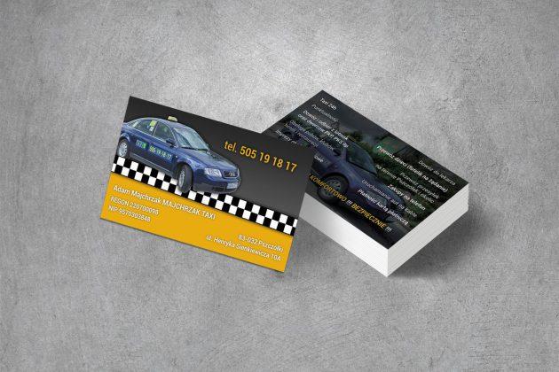 Majchrzak Taxi Wizytówki firmowe