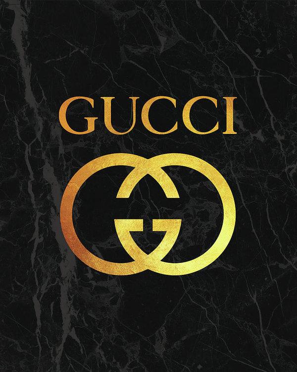 Logo Gucci złote