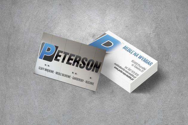 Peterson Meble Wizytówki firmowe