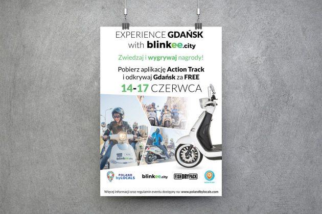 BLINKEE Plakat wydarzenia organizowanego przez BLINKEE oraz Poland by Locals