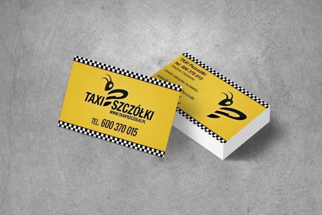 Taxi Pszczółki Wizytówki firmowe