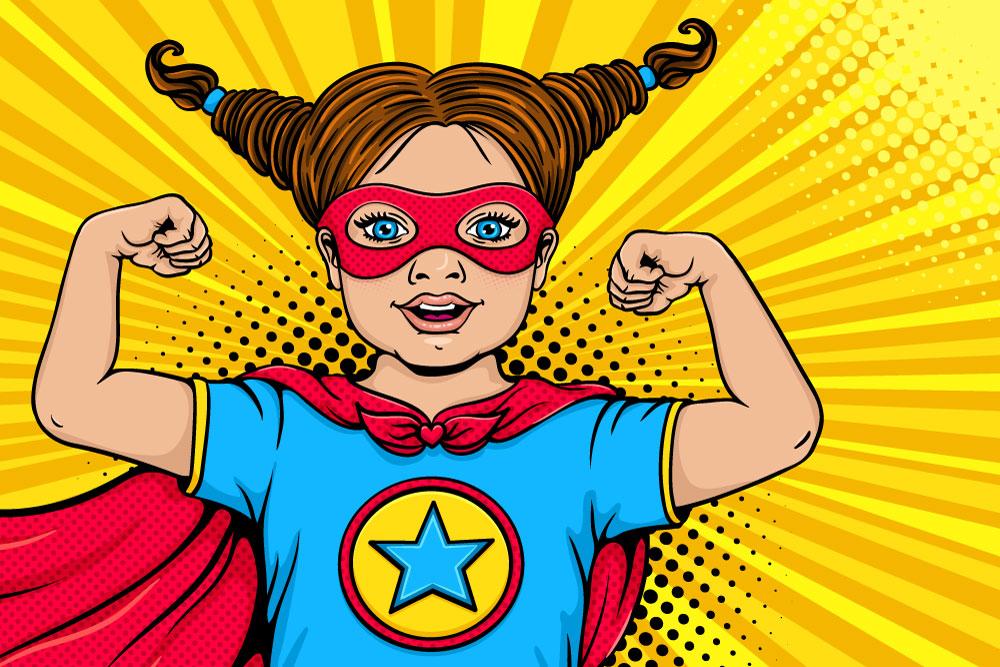 Kolorowe rysunki artystyczne w pokoju dziecka